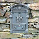 The Grey Irish Post Box by Fara