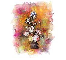 Flower watercolor painting Photographic Print