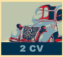 2CV French design iconic car pop art by aapshop