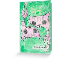 """""""Oro?"""" Pisces Greeting Card"""