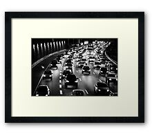 traffic at night Framed Print