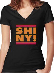 SHINY MC Women's Fitted V-Neck T-Shirt