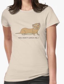 Playful Ferret Womens Fitted T-Shirt