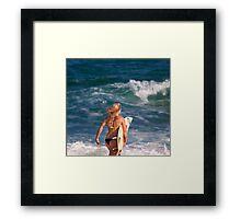 Pipeline Surfer 5 Framed Print