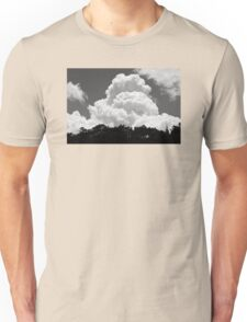 Black And white Sky With Building Thunderhead Storm Clouds Unisex T-Shirt