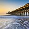 Folly Beach Pier Charleston SC Coast Atlantic Ocean Pastel Sunrise by Dave Allen