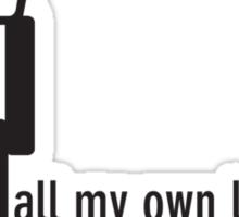 I do all my own laundry. Sticker