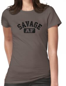 SAVAGE - AF (Black) Womens Fitted T-Shirt