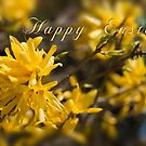 Easter card - forsythia by Magdalena Warmuz-Dent
