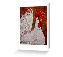 I Know I am Lovely - White Rooster Greeting Card