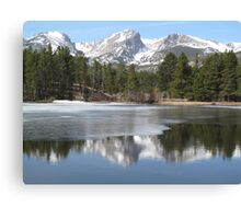 Rocky Mountain National Park at Sprague Lake Canvas Print