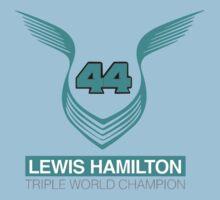 Lewis Hamilton Triple World Champion (teal) Kids Tee