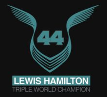Lewis Hamilton Triple World Champion (teal) Kids Tee
