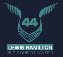 Lewis Hamilton Triple World Champion (teal) One Piece - Short Sleeve