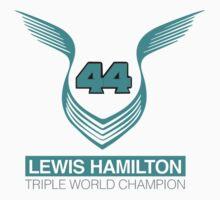 Lewis Hamilton Triple World Champion (teal) One Piece - Long Sleeve