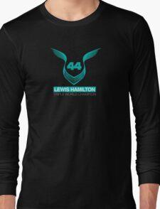 Lewis Hamilton Triple World Champion (teal) Long Sleeve T-Shirt