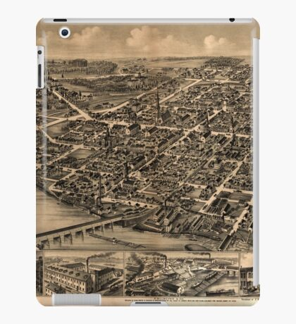 Panoramic Maps Lewisburgh iPad Case/Skin