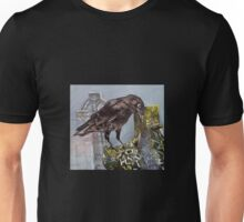 Crow in the mist Unisex T-Shirt