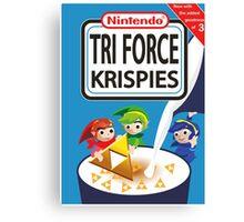 Tri Force Krispies Canvas Print