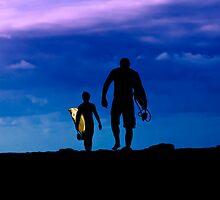 Sunrise Surfers by Alex Preiss