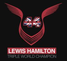 Lewis Hamilton Triple World Champion (red) by upick