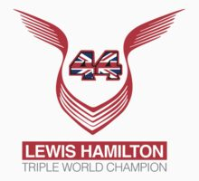 Lewis Hamilton Triple World Champion (red) Baby Tee