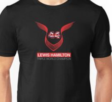 Lewis Hamilton Triple World Champion (red) Unisex T-Shirt
