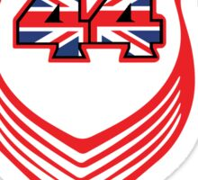 Lewis Hamilton Triple World Champion (red) Sticker
