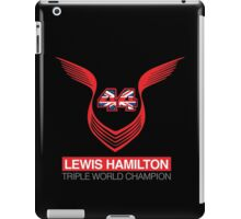 Lewis Hamilton Triple World Champion (red) iPad Case/Skin