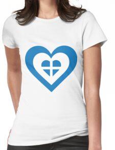 Greece Heart Womens Fitted T-Shirt
