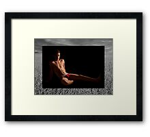 Michael Phelps on Black on Field Framed Print