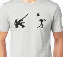 Samurai Versus Zombie - Silhouette Unisex T-Shirt
