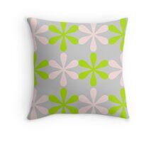 Green and Pink Design Throw Pillow