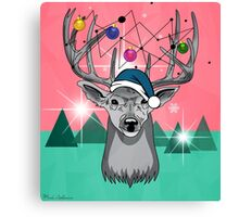Christmas deer Canvas Print