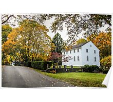 Old Narragansett Church in Fall Poster