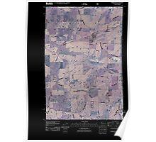 USGS Topo Map Washington State WA Farmington 20110428 TM Inverted Poster