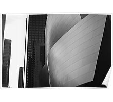 Disney Music Hall BW Poster