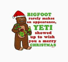 Funny Christmas Bigfoot Yeti Pun Cartoon T-Shirt