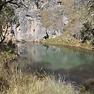 Blue Water Holes on Long Plain Road Kosiosko Nat Park NSW by julie anne  grattan