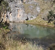 Blue Water Holes on Long Plain Road Kosiosko Nat Park NSW by julie anne  grattan