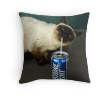 Cat Is Enjoying Kaua'i Throw Pillow