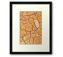 Footprint in the Cracked Earth Framed Print