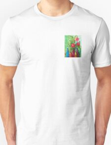 Antique Bottles and Flowers T-Shirt