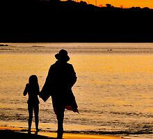 Taking A Stroll At Sunset by photoj