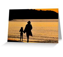 Taking A Stroll At Sunset Greeting Card