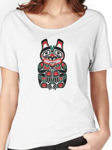 Red and Green Haida Spirit Bear Women's Relaxed Fit T-Shirt