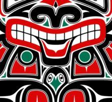 Red and Green Haida Spirit Bear Sticker