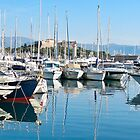 yachts at Antibes by Anne Scantlebury