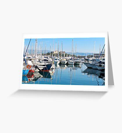 yachts at Antibes Greeting Card