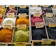 spices in the Antibes market Photographic Print
